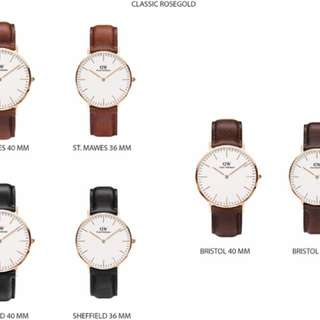 New daniel wellington watch 100% original