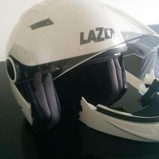 Lazer Corsica size M helmet - full face detacheable to half face