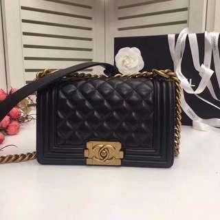 Chanel 經典leboy 鏈條包 金色鏈 原版進口小羊皮製作 專櫃品質 尺寸:20cm