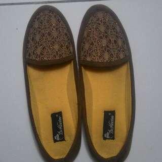 Ballerina Flat Shoes Brown