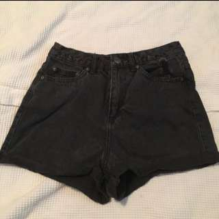 Black Glassons high waisted shorts