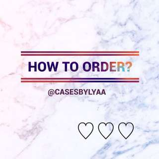 ✨HOW TO ORDER✨