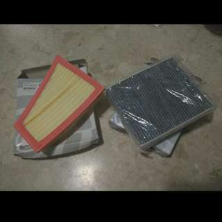 BMW F10 5 series / 520i Air Filter and Aircon Filter