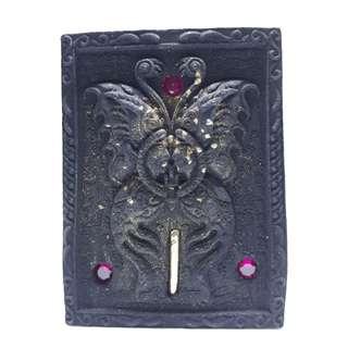 Kruba Krissana Chai Tong 2 (Black) Butterfly Amulet / BE 2560 / 蝴蝶 佛牌