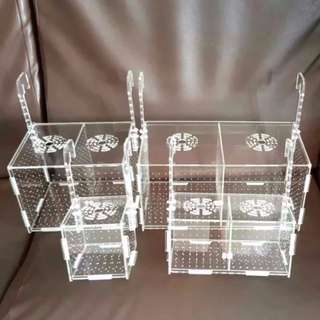 Hanging Type Acrylic Isolate Box / Breeding Box / Divider For Aquarium Fish Tank