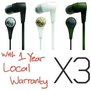 BNIB 1 Year Local Warranty Jaybird X3