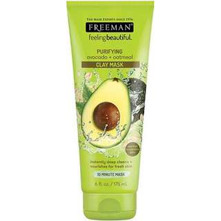(SHARE IN JAR) 10gr freeman oatmeal & avocado clay mask