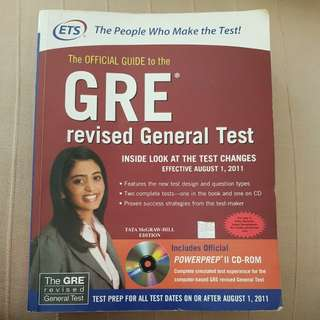 GRE Official Guide book from ETS