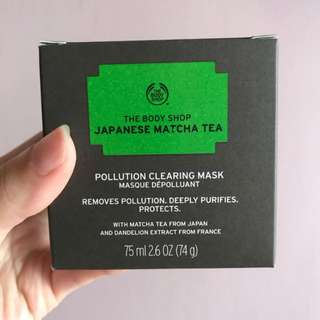 Pollution clearing mask, japanese matcha tea