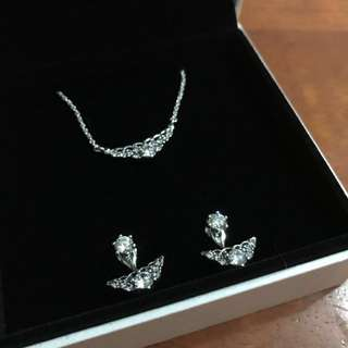 Pandora necklace & earrings set