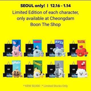 BTS BT21 LOOSE MERCHANDISE