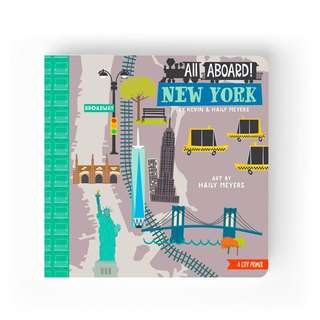 BABYLIT All Aboard! New York: A City Primer Baby Toddler Board Picture Book