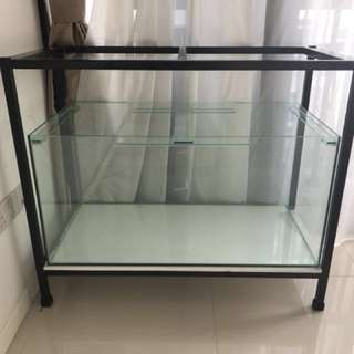 3 ft Fish Tank and Iron Standing