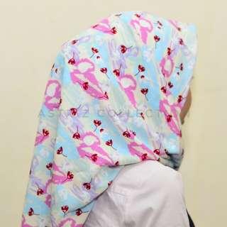 Hijab segiempat candy blast motif