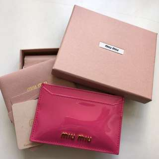 Miu Miu card holder (100% new)