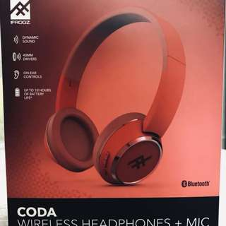 IFROGZ Coda Wireless Headphones + Mic