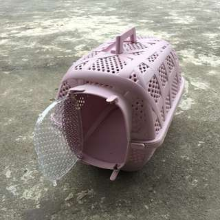 寵物外出籠 粉紫色