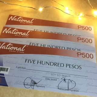 National Book Store (gift certificate)