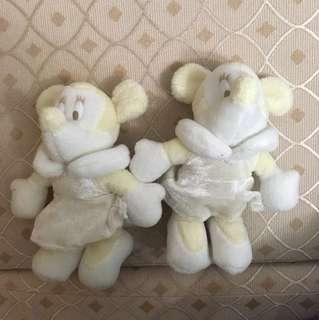 迪士尼 娃娃 米妮 兩隻50
