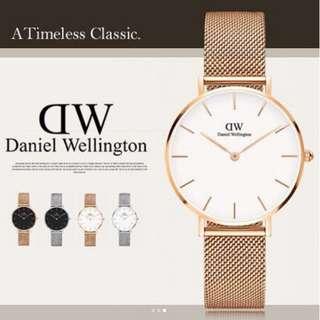 TRENDY A 🇺🇸直送 現貨正品 2年保養 Daniel Wellington 32mm Classic Petite Melrose 金色 不鏽鋼帶女裝手錶 DW00100163 DW錶