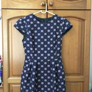 Miss Selfridge Baroque print Dress UK 8