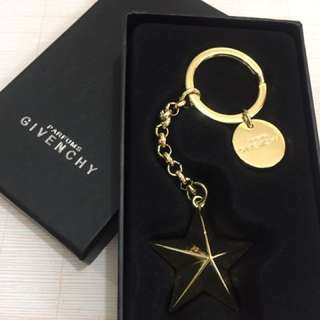 Givenchy gold star key ring