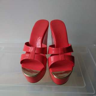 Charles & Keith Red Wedges