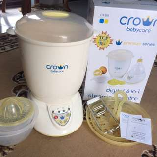 Crown Baby Care Premium Series Digital 6 in 1 Steaming Centre