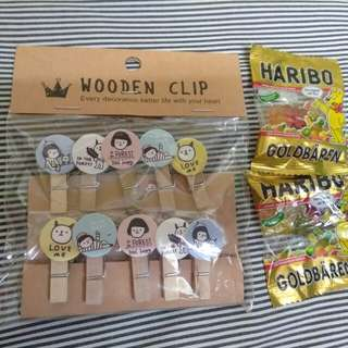 Wooden clip