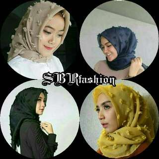 Jilbab hijab kerudung segi empat rubiah linen bulu feather scuare