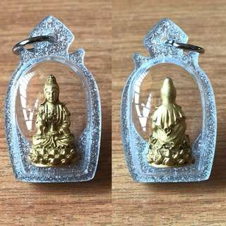Thai Amulet - Goddess of Mercy - Guan Yin - Gold Plated - Thai Amulets