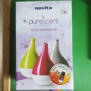 Novita Aroma Diffuser N.A. 600 (comes with 2 free essential oil)