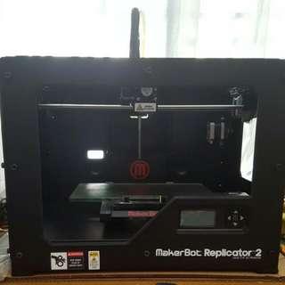 Makerbot Replicator 2 Desktop Laptop 3d Printer