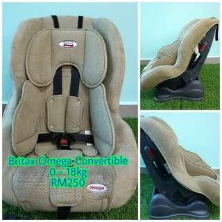 Britax omega convertible car seat
