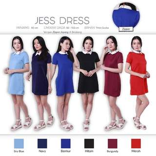 Jess Dress (Collar Dress Baju Rok Mini Dress)
