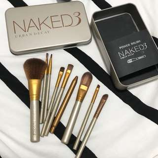 urban decay naked3 makeup brush set
