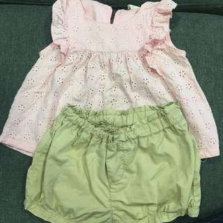 Tiny Burton Blouse & Short 2-3yr