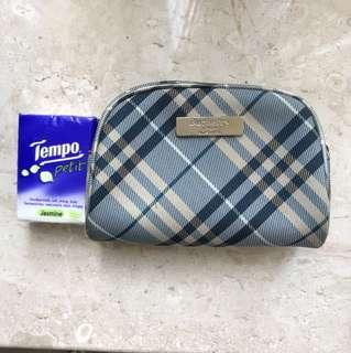 burberry blue label cosmetics bag