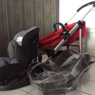 Stroller with Basket and Car Seat