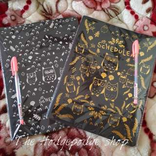 Black Notebook with one FREE pastel pen