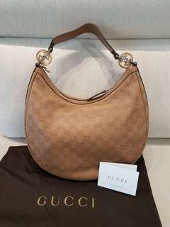 Gucci Guccissima GG twins Hobo bag in Camel
