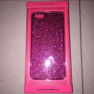 victoria secret iphone 5/5S pink sparkly case