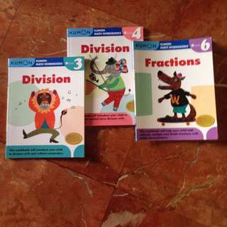 KUMON Maths practice books with answers