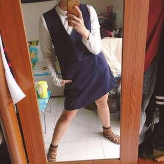 買衣送衣(藍洋+花紗白立領)