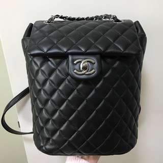 Chanel Backpack Black Lamp skin Small Size