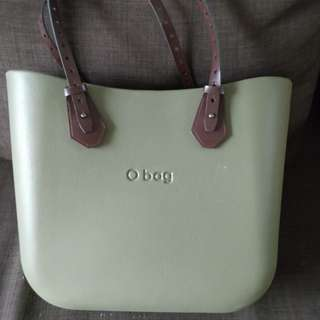 Italian fashion - olive bag with adjustable leather handles