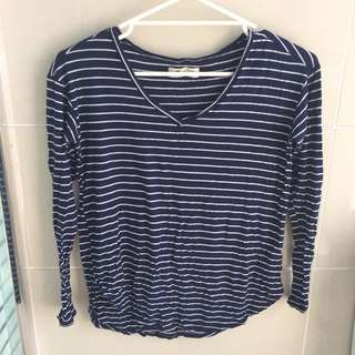 abercrombie & fitch stripy shirt