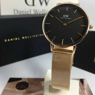 DW Watch Classic Petite Melrose Black