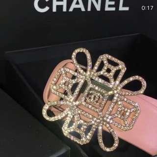 Chanel Belt Pink 櫻花粉 大閃扣 皮帶