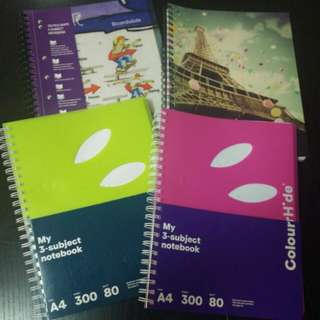 3, 4, 5 Subject Notebooks